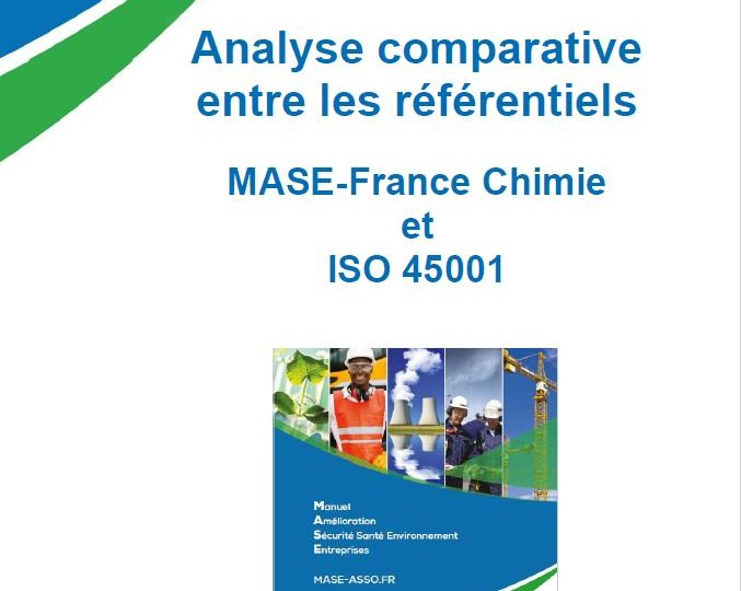 Couverture rapport comparatif MASE - ISO 45001