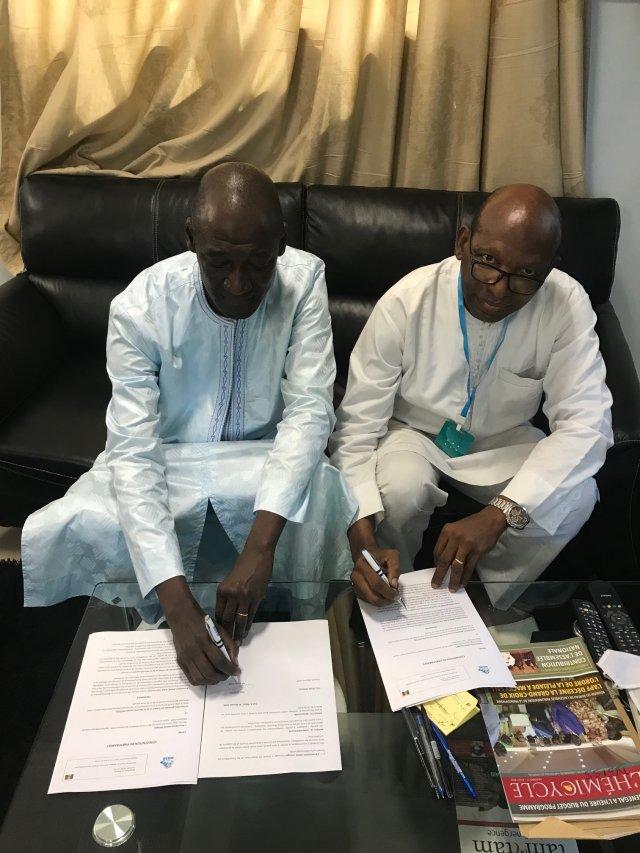 Signature convention de partenariat MASE DGTSS